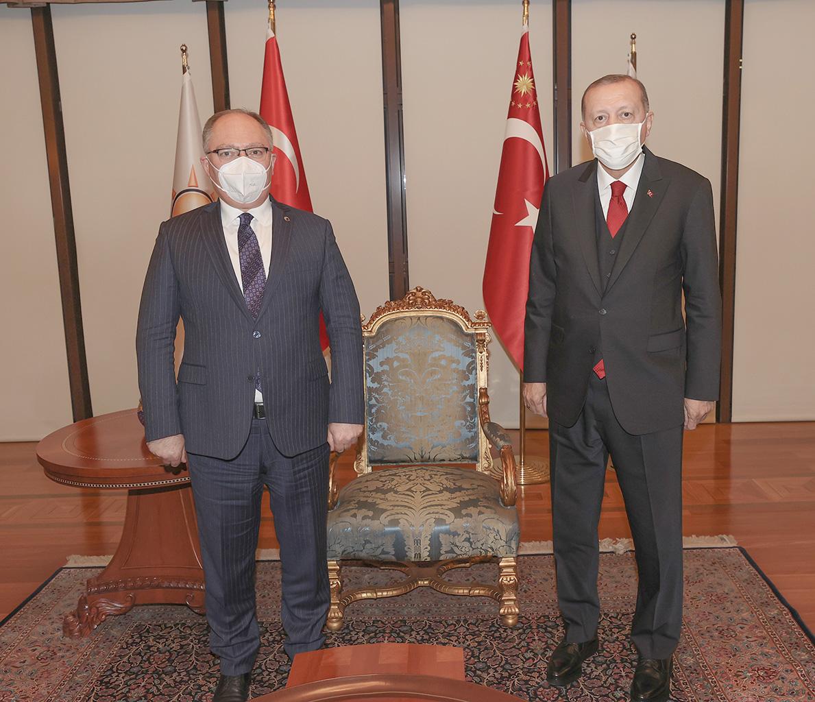 Sivas Belediye Başkanı Hilmi Bilgin, Cumhurbaşkanı Erdoğan'la görüştü - Ohediyo